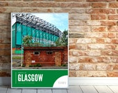 Glasgow Celtic Photography Poster, Celtic Park Print, Large Celtic Artwork