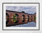 Dumfries Scotland River Nith Devorgilla Bridge Photography Print Poster