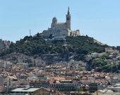 Marseille Photography Print Notre Dame dear la Garde European Basilica