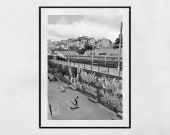 Skateboarding Poster, Skateboard Wall Art, La Friche la Belle de Mai Marseille Photography, Urban Photography, Skateboarding Gift, Decor