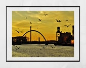 Glasgow Poster, Glasgow Print, Glasgow Scotland, Glasgow Photography Print, Glasgow Photography, Squinty Bridge Glasgow, Glasgow Gift