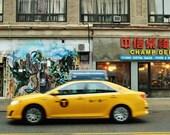 New York Taxi Print, New York Photography Print, New York Yellow Cab Photo, New York Poster, New York Gift, New York City Print