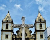 Apartment Gift, Salvador de Bahia,São Francisco Church and Convent of Salvador, Church Photo, Church Print, Cross Photo, Baroque Photography