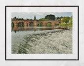 Dumfries Scotland River Nith Devorgilla Bridge Photography Print
