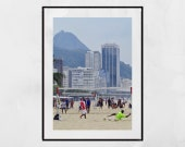 Rio De Janeiro Poster, Copacabana Print, Football Photography, Copacabana Poster, Football Wall Art, Rio De Janeiro Photography, Soccer