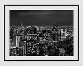 City Photography, Tokyo Skyline, Tokyo Night Photography, Tokyo Photography Print, Tokyo Print, Home Decor Wall Art, Gallery Wall Prints