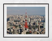 Tokyo Poster, Tokyo Photography Print, Tokyo Skyline, Tokyo Tower, Tokyo Print, Tokyo Wall Art, Tokyo Gift, Tokyo Picture, Tokyo Photo