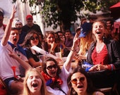 France Football Fans Allez Les Bleus Photography Print