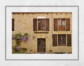 French Provincial Wall Art, Loubressac France Photography Print, France Photography, Europe Wall Art, Pretty Print, Living Room Wall Print