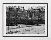 Glasgow Tenements, Glasgow West End, Kelvingrove Park, Glasgow Photography Print, Glasgow Print, Snow Print, Glasgow Gift, Glasgow Poster