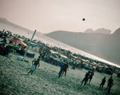 Ipanema Beach Print, Ipanema Beach Photo, Rio De Janeiro Print, Football Photo, Football Print, Football Photography, Beach Football Photo