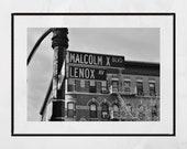 Harlem Photography, Harlem Print, New York Street Photography, New York Photography Print, Harlem Poster, Malcolm X Boulevard, Lenox Avenue