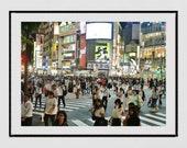 Shibuya Crossing Tokyo Photography Print, Tokyo Photography, Shibuya Poster, Tokyo Poster, Tokyo Print, Tokyo Wall Art, Tokyo Gift, Decor