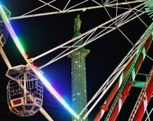 Glasgow George Square Christmas Ferris Wheel Photography Print