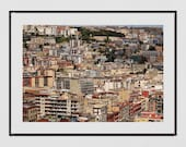 Naples Photography Print, Italy Photography, Naples Skyline, Naples Poster, Europe Print, Naples Wall Art, Belvedere di San Martino Naples