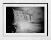Iguazu Falls Photography Print, Waterfall Photography, Waterfall Print, Iguazu Falls Picture, Nature Photography, Black And White Print