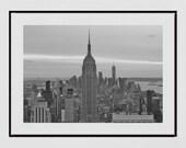 New York Skyline Print, Empire State Building Print, New York Photography Print, New York Poster, New York Decor, New York Print, Wall Art