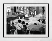 Tokyo In The Rain Picture, Tokyo Photography, Tokyo Poster, Japan Photography, City Photography, Kichijōji Tokyo, Living Room Wall Print