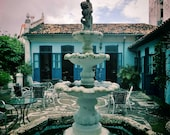 Extra Large Photo, Salvador Brazil Print, Apartment Gift, Pousada Brazil Print, Pousada Photo, Courtyard Photo, Fountain Photo, Patio Photo