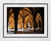 Glasgow University Cloisters Picture, Glasgow University Photography Print, Glasgow University Picture, Pictures Of University Of Glasgow