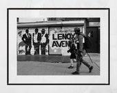 Harlem Photography, Lenox Avenue, New York Street Photography, Harlem Print, New York Photography Print, Harlem Poster, Malcolm X Boulevard