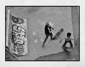 Skateboarding Poster, Skateboard Wall Art, Skateboarding Gift, La Friche la Belle de Mai Marseille Photography, Urban Photography, Decor