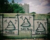 Graffiti Wall Art, Sao Paulo, Urban Print, City Scene, Sao Paulo Graffiti, Extra Large Print, Brazil Gift