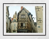 Blois France Photography Print, French Provincial Wall Art, Loire Valley, France Photography, Europe Wall Art, Pretty Print, Gallery Wall