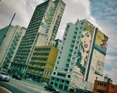 Sao Paulo, Urban Print, City Scene, Street Art Gift, Extra Large Print, Graffiti Print, Brazil Gift, Architecture Print