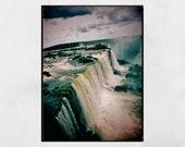 Iguazu Falls Photography Print, Iguazu Falls Picture, Waterfall Photography, Waterfall Print, Nature Photography, Home Decor Wall Art, Gift