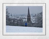 Queen's Park Glasgow Photography Print, Winter Photography, Glasgow South Side, Snow Print, Glasgow Print, Glasgow Gift, Glasgow Poster