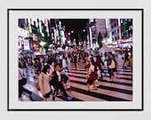 Tokyo Poster, Tokyo In The Rain, Shinjuku Poster, Tokyo Wall Art, Tokyo Photography Print, Tokyo Print, Tokyo Gift, Japan Photography, Decor