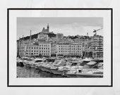 Marseille Vieux Port Photography Print, Marseille Print, Marseille Gift, Marseille Wall Art, Notre-Dame de la Garde, Europe Photography,
