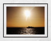 Sunrise Photography Print, Firth Of Clyde, Boat Photography, Landscape Photography, Sunrise Print, Photography Print, Home Decor Wall Art