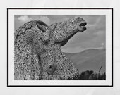 Falkirk Kelpies Picture, Falkirk Poster, Scotland Print, Scotland Photography, Scotland Poster, Scotland Wall Art, Scotland Wall Decor, Gift
