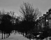 Tenements In Glasgow In The Snow Photography Print