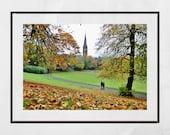 Glasgow Queen's Park Autumn Fall Photography Print