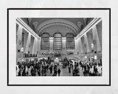 Grand Central Station Print, New York Photography Print, New York Poster, New York Photography, New York Print, Living Room Wall Print
