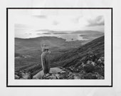 Isle of Barra Scotland Photography Print, Our Lady of the Sea and Heaval, Barra Photo, Outer Hebrides Picture, Black And White Print