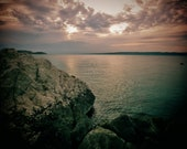 Marseille Coastal Sunse Photography Print Poster
