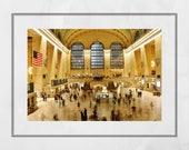 Grand Central Station Print, New York Photography, New York Photography Print, New York Poster, New York Print, Living Room Wall Print