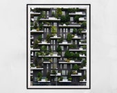Milan Photography Print, Vertical Forest Milan, Bosco Verticale Milan, Isola Milan, Architecture Print, Milan Print, Milan Poster, Wall Art