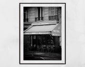 Paris Photography, Paris Cafe Photography, Paris Street Poster, Paris Street Print, Paris Print, Paris Wall Art, Paris Picture, Paris Poster