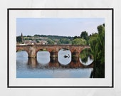 Dumfries River Nith Devorgilla Bridge Photography Print Poster