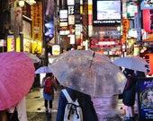Shinjuku, City Photography, Tokyo In The Rain Picture, Tokyo Photography, Tokyo Poster, Gallery Wall Prints, Japanese Restaurant Decor,