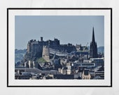 Edinburgh Castle Photo, Edinburgh Skyline Print, Edinburgh Castle Print, Edinburgh Poster, Edinburgh Print, Edinburgh Wall Art, Wall Decor