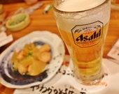 Asahi Beer Print, Beer Poster, Bar Decor, Bar Photography, Tokyo Photography, Japan Print, Japanese Restaurant Decor, Gallery Wall Prints