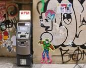 Back To The Future Street Art Print, Street Art Poster, Street Art Graffiti, Back To The Future Gift, Urban Prints, New York Street Art