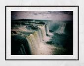 Iguazu Falls Photography Print, Waterfall Photography, Waterfall Print, Wildlife Photography, Nature Photography, Landscape Photography