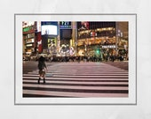 Shibuya Crossing Tokyo Photography Print, Shibuya Poster, Tokyo Photography, Tokyo Poster, Tokyo Print, Tokyo Wall Art, Tokyo Gift, Japan